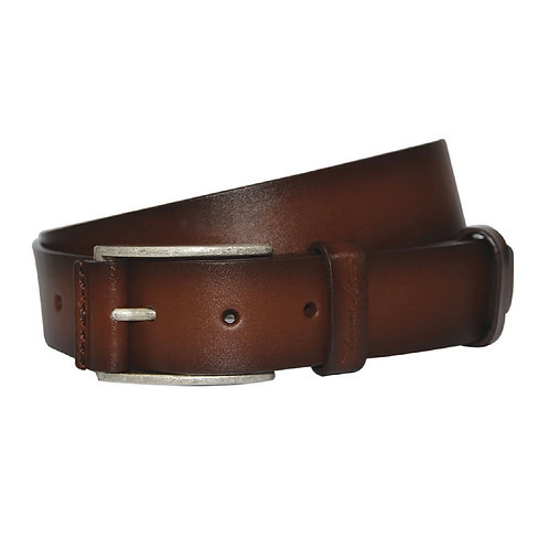 THOMAS COOK Leather Trimmed Buckle Belt Brown - TCP1956BEL