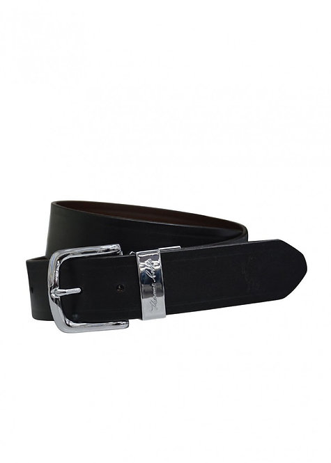 THOMAS COOK Signature Reversible Belt - SILVER BUCKLE