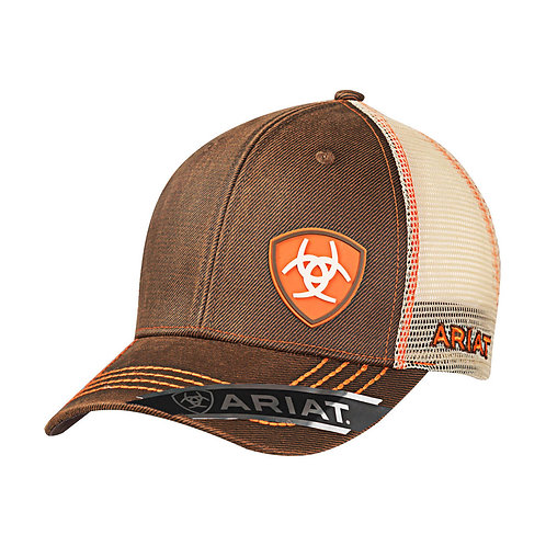 ARIAT MESH SNAP CLOSE CAP OILSKIN