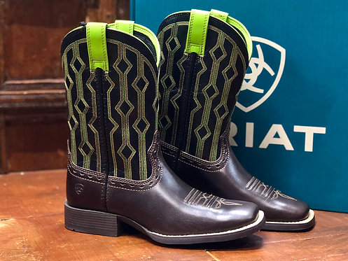 KIDS ARIAT LIVE WIRE BOOTS- GREEN