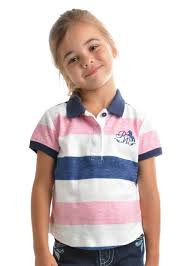 GIRLS PURE WESTERN ADLEY S/S POLO