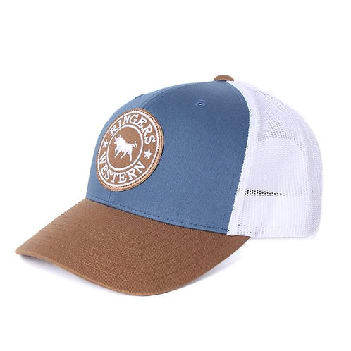 RINGERS WESTERN Signature Bull Trucker Dark Blue Steel