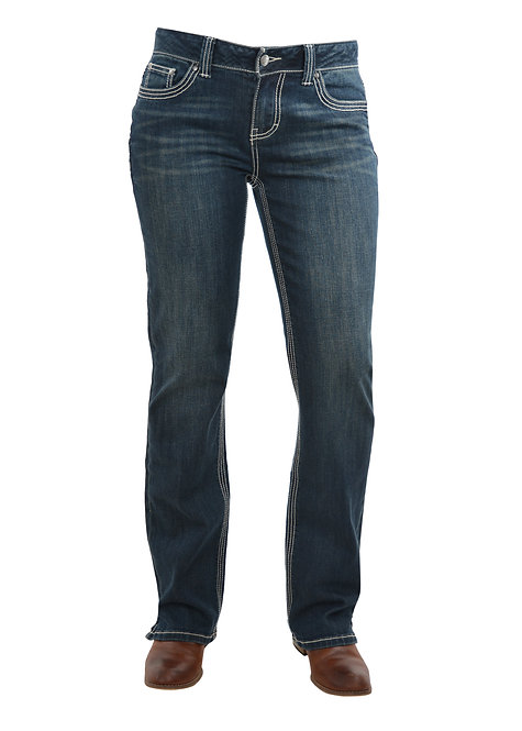 LADIES BULLZYE ANGELINA JEANS- MID RISE BOOTCUT
