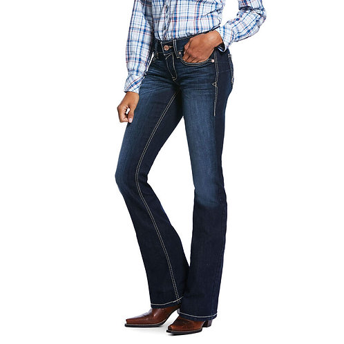 LADIES ARIAT R.E.A.L MID RISE STRETCH REMI BOOTCUT