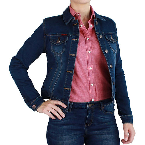 LADIES RINGERS WESTERN Alexandria Denim Jacket Classic Blue