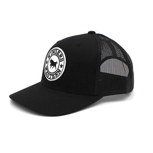 RINGERS WESTERN SIGNATURE TRUCKER CAP- BLACK & WHITE