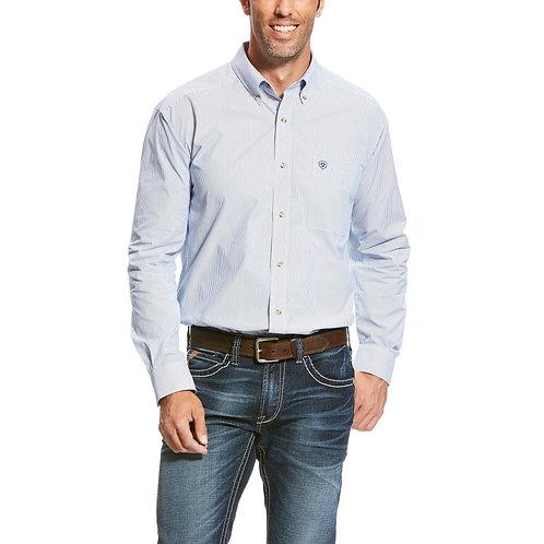 MENS ARIAT Dayne LS Mini Stripe Shirt - ANCIENT ROYAL