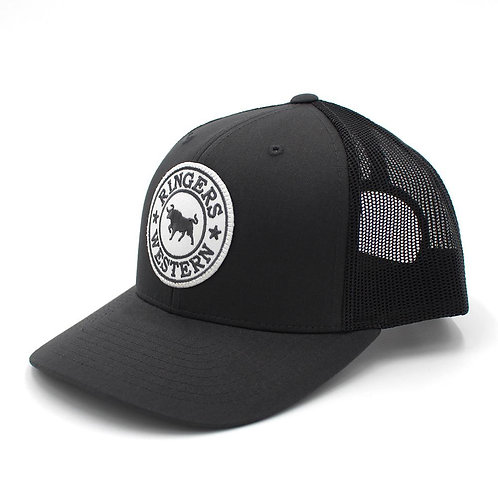 RINGERS WESTERN Signature Bull Trucker Charcoal with Charcoal & White Patch