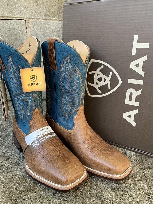 MENS ARIAT VALOR ULTRA DARK TAN ROCKY BLUE BOOTS