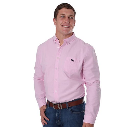 MENS RINGERS WESTERN Cambridge Slim Fit Oxford Shirt Dusty Pink
