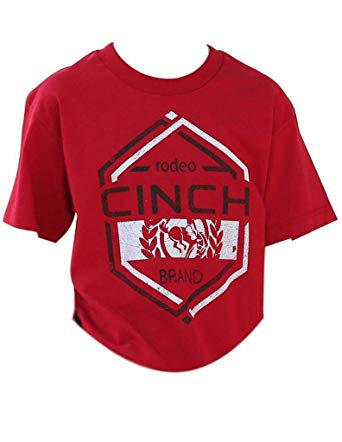 BOYS CINCH RODEO RED TEE