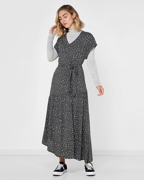 LADIES ELWOOD HUNNI DRESS-BLACK FLORAL