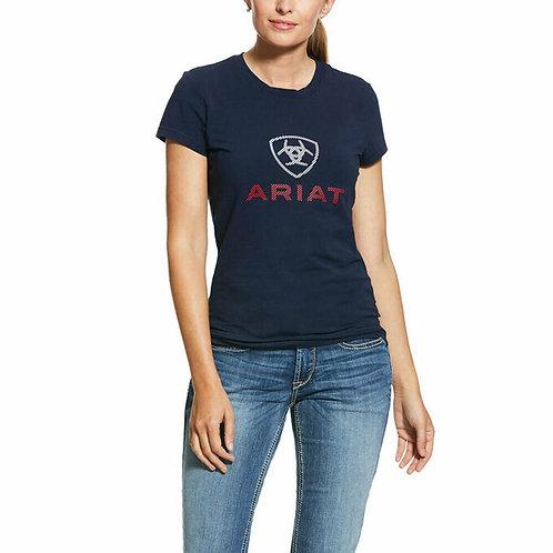 LADIES ARIAT HD Logo T-Shirt - NAVY