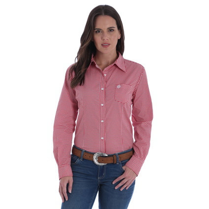 WRANGLER LADIES GEORGE STRAIT FOR HERS SHIRT-RES/WHITE