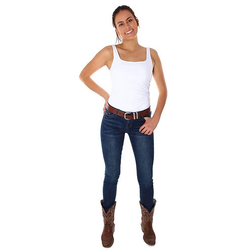 RINGERS WESTERN Clermont Womens Low Rise Straight Leg Classic Blue