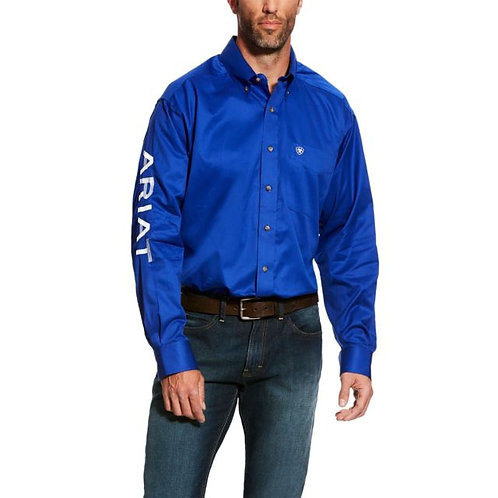 MENS ARIAT TEAM LOGO L/S SHIRT- BLUE