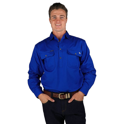 MENS RINGERS WESTERN King River Half Button Work Shirts
