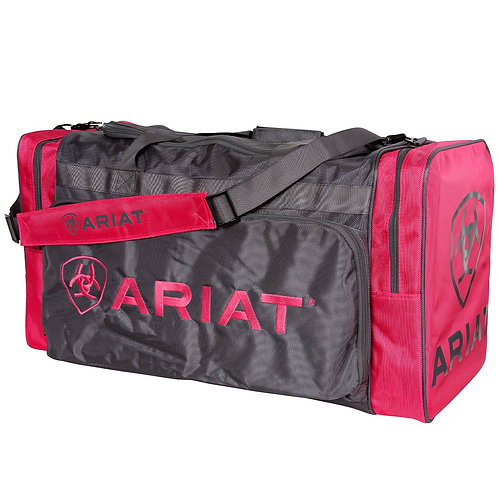 LARGE ARIAT GEAR BAG- PINK / CHARCOAL