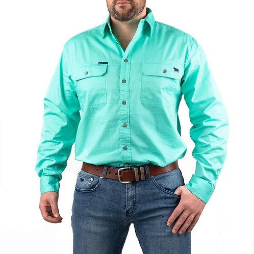 MENS RINGERS WESTERN King River Full Button Work Shirt
