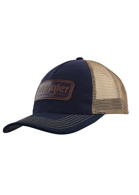 WRANGLER EDWARDS TRUCKER CAP- NAVY