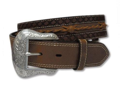 MENS TWISTED X Brown Genuine Leather Belt - XWB2-2