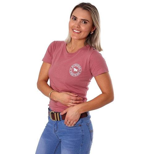 LADIES RINGERS WESTERN Signature Bull  Classic T Shirt Dusty Rose