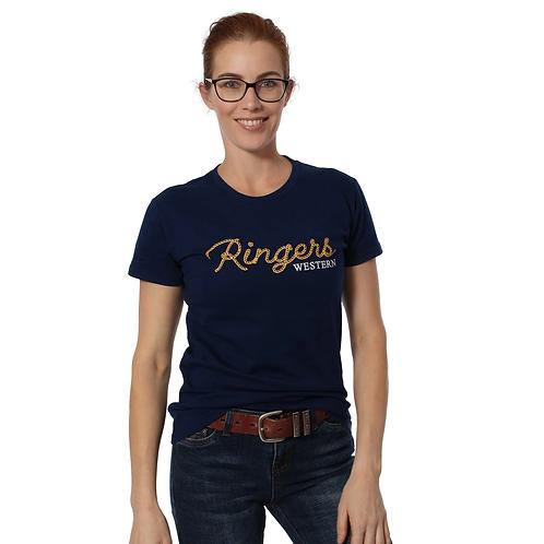 LADIES RINGES WESTERN Chamberlain Womens Classic T-Shirt Midnight