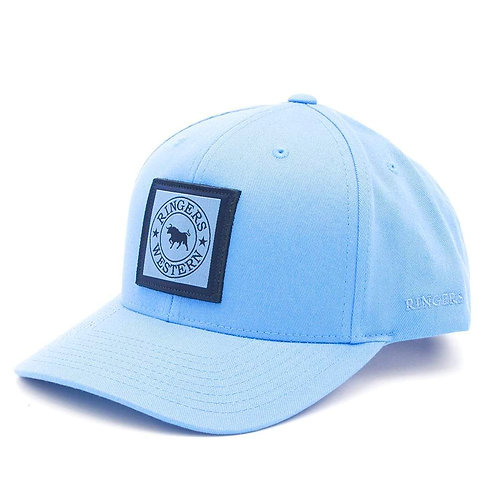 RINGERS WESTERN Twill Baseball Cap Blue with Navy & Blue 3D Patch