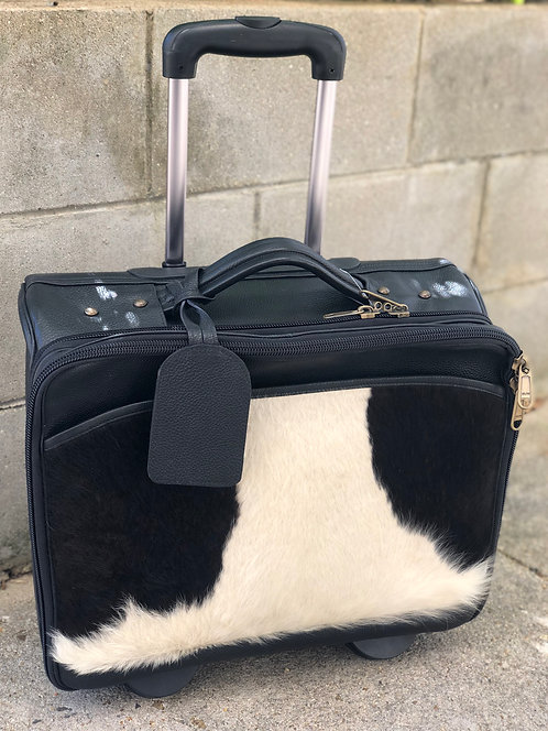 'PACIFIC' JERSEY HAIRON CABIN BAG- BLACK
