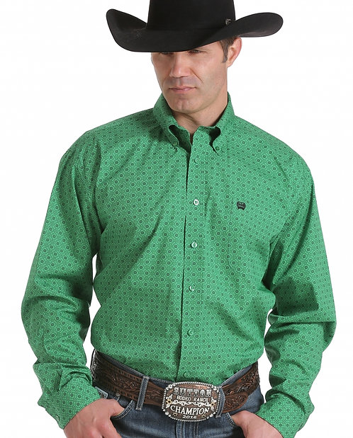 MENS CINCH LOGAN PRINT L/S SHIRT