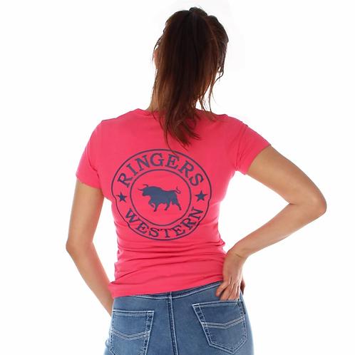 LADIES RINGERS WESTERN Signature Bull Classic T Shirt Melon