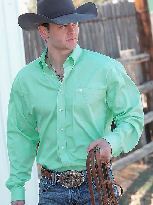 MENS CINCH SOLID MINT L/S SHIRT