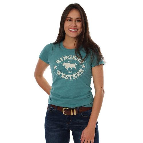LADIES RINGERS WESTERN Sahara Womens Classic T-Shirt Dusty Jade
