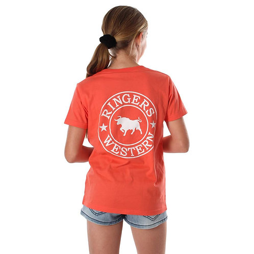 kids ringers western Signature Bull Classic T-Shirt Coral