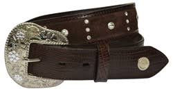 LADIES WRANGLER JEWEL LIZARD BELT