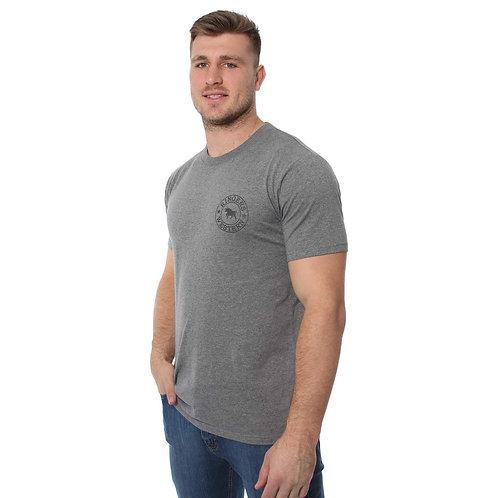 MENS RINGERS WESTERN Signature Bull Classic T-Shirt Charcoal Marle