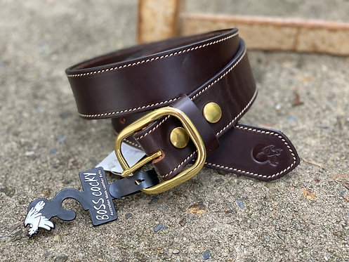 BOSS COCKY GRAZIER STICHED 40MM BROWN - BL62SDB