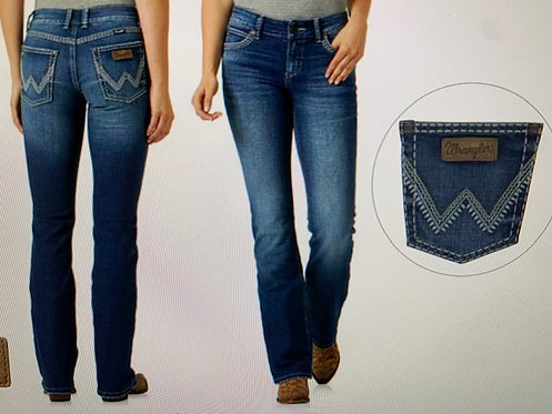 LADIES WRANGLER RETRO LOW RISE B/CUT SADIE JEANS -JANET