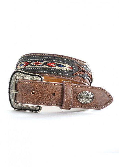 MENS PURE WESTERN Jay Belt Brown  - P9S1924BLT