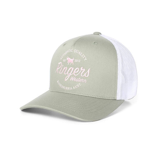 RINGERS WESTERN Boundary Trucker Sage & White & Pink