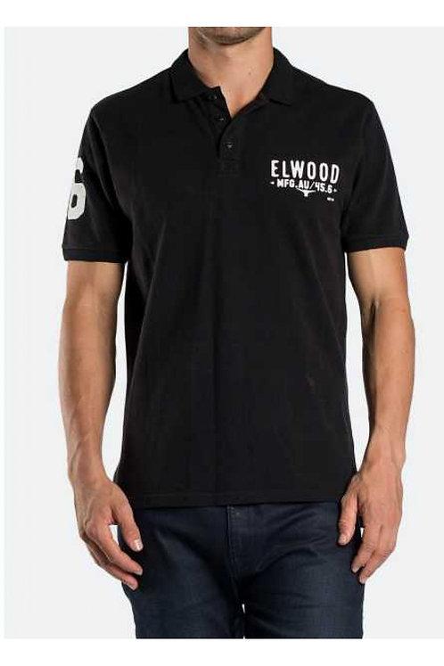 MENS ELWOOD TAILWIND POLO-BLACK