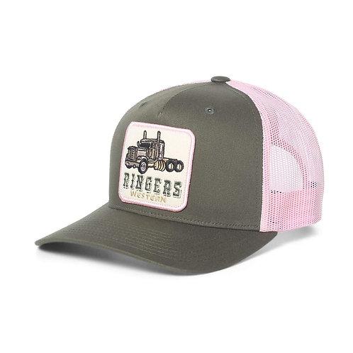 RINGERS WESTERN Long Haul Trucker Army & Pink