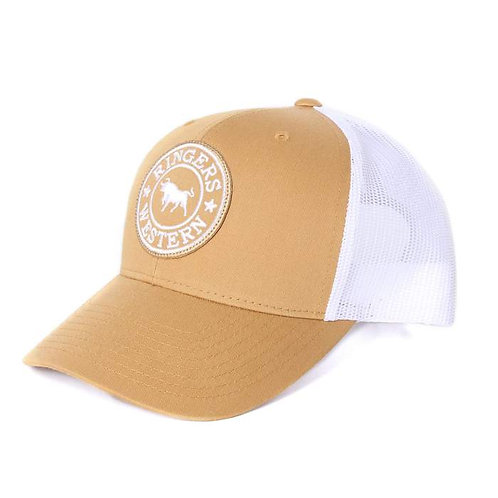 RINGERS WESTERN Signature Bull Trucker Amber with Amber & White Patch