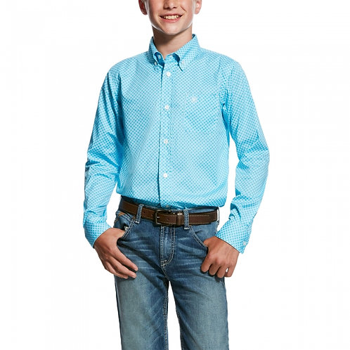 BOYS ARIAT S19 MOLSON STRETCH LS SHIRT