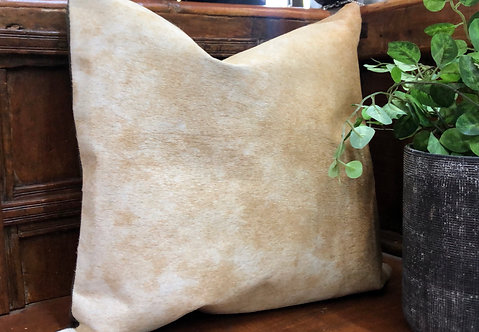 SINGLE PANEL CUSHION- TAN
