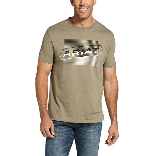 MENS ARIAT PARALLEL T-SHIRT OLIVE HEATHER