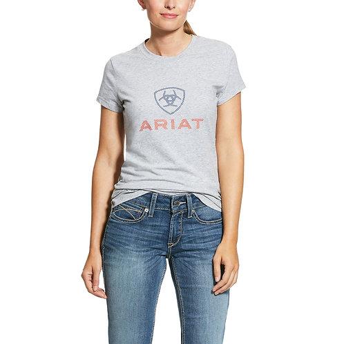 LADIES ARIAT HD Logo T-Shirt - HEATHER GREY