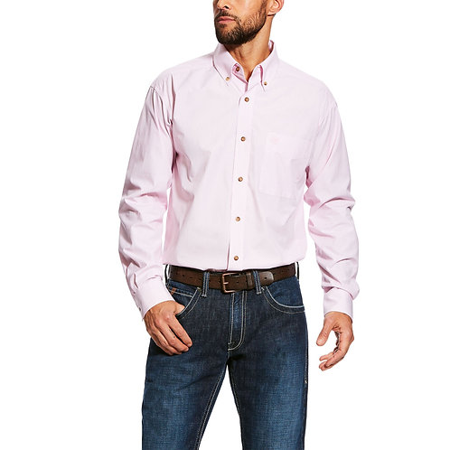 MENS ARIAT Dayne LS Mini Stripe Shirt - PRISM PINK