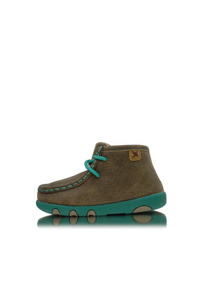 TWISTED X INFANTS CASUAL MOCS - BOMBER/TURQUOISE