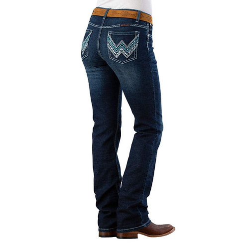 LADIES WRANGLER LOW RISE ULTRA RIDING JEAN -SHILOH INDIGO